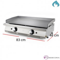 Plancha ECO 83x48 placa 6 mm. 10.6 Kw para bares.