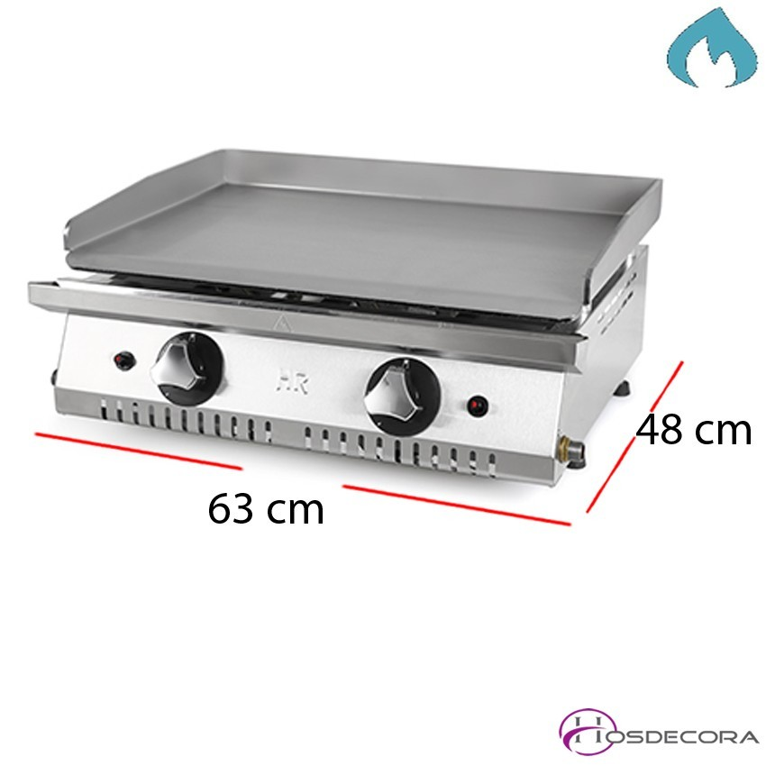 Plancha ECO 63x48 placa 6 mm. 8.2 Kw para bares.