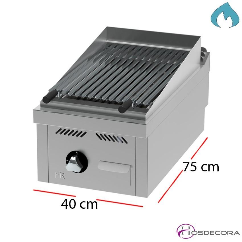 Barbacoa a gas 40x75 - 8.76 KW -FAB7504S