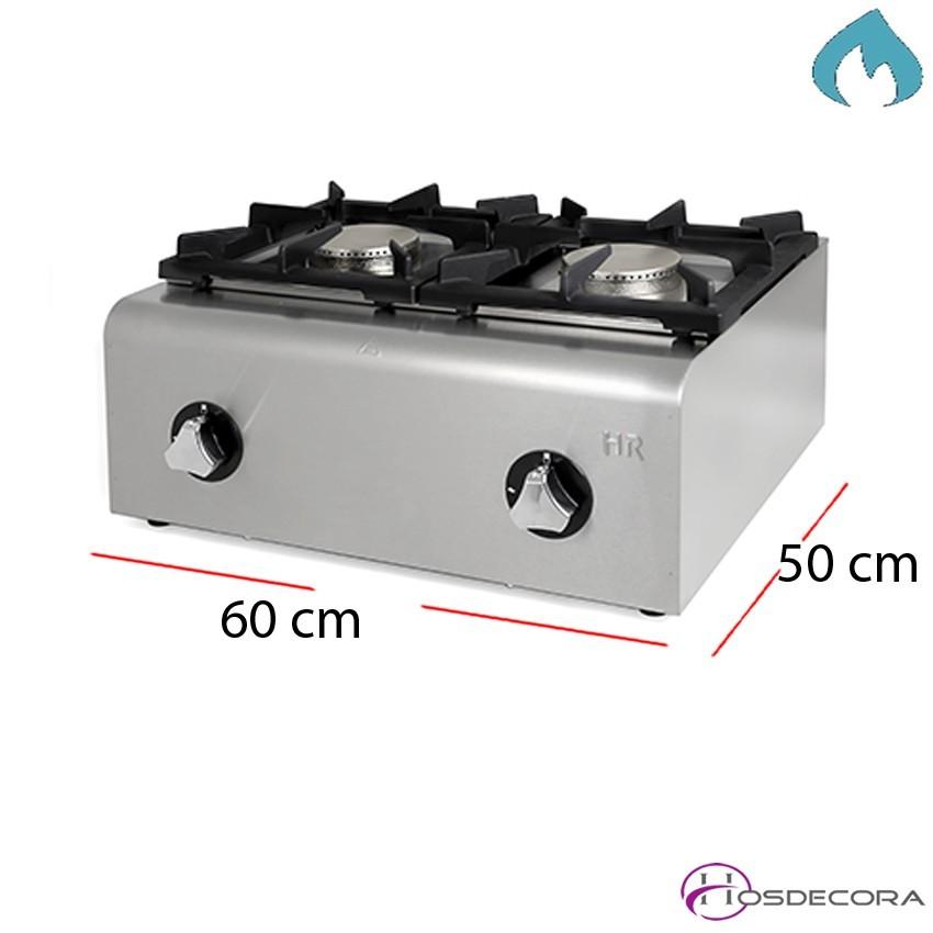 Fogon Profesional a gas 600X500x292 - 9.5 Kw