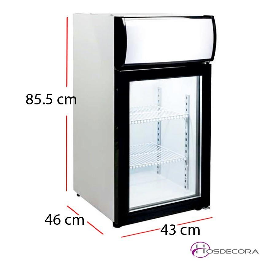 Expositor de sobremesa congelación 50 litros 210W
