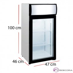 Congelador de sobremesa de exposición 80 litros 210W