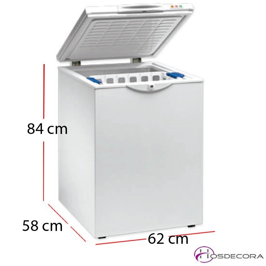 Arcón congelador puerta corredera 125 litros