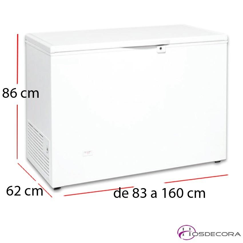 Congelador puerta abatible con cerradura