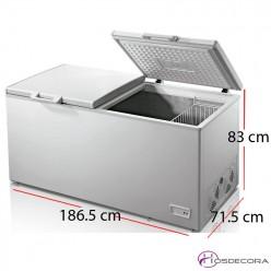 Arcón congelador puerta abatible gran capacidad 600 litros