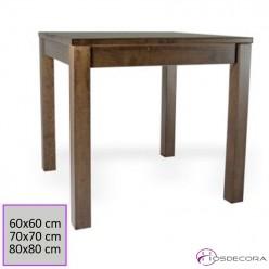 Mesa cuadrada de madera de pino 77-3025M-C
