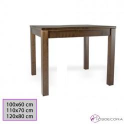 Mesa de madera de pino rectangular 77-3025M-R