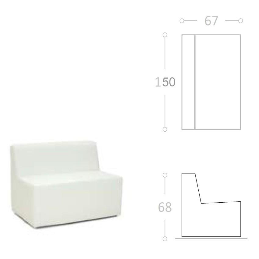 Sofa de Una plaza SOL tela impermeable nautica