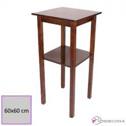 Mesa alta de madera con estante 77-3010
