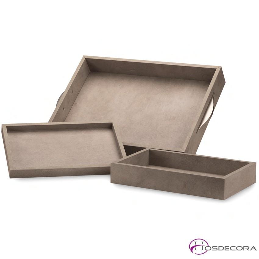 Kit de bandejas de madera