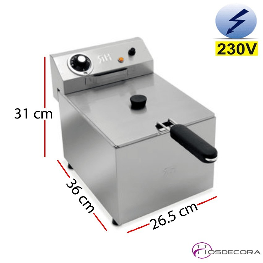 Freidora eléctrica con contactor 6L  4.2 KW