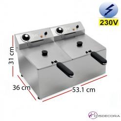 Freidora eléctrica doble 6+6L  4.2+4.2 KW