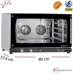 Horno eléctrico 4 bandejas de 60x40 cm - 6.5 Kw