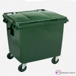 Contenedor de desperdicios con tapa y ruedas