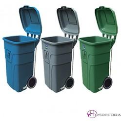 Contenedor de desperdicios y reciclaje