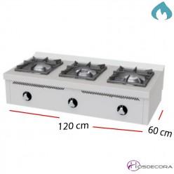 Cocina a Gas Fondo 60- 2 Fuegos 7.5 y 4.5 KW