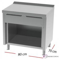 Muebles neutros con estante de 80x60 cm