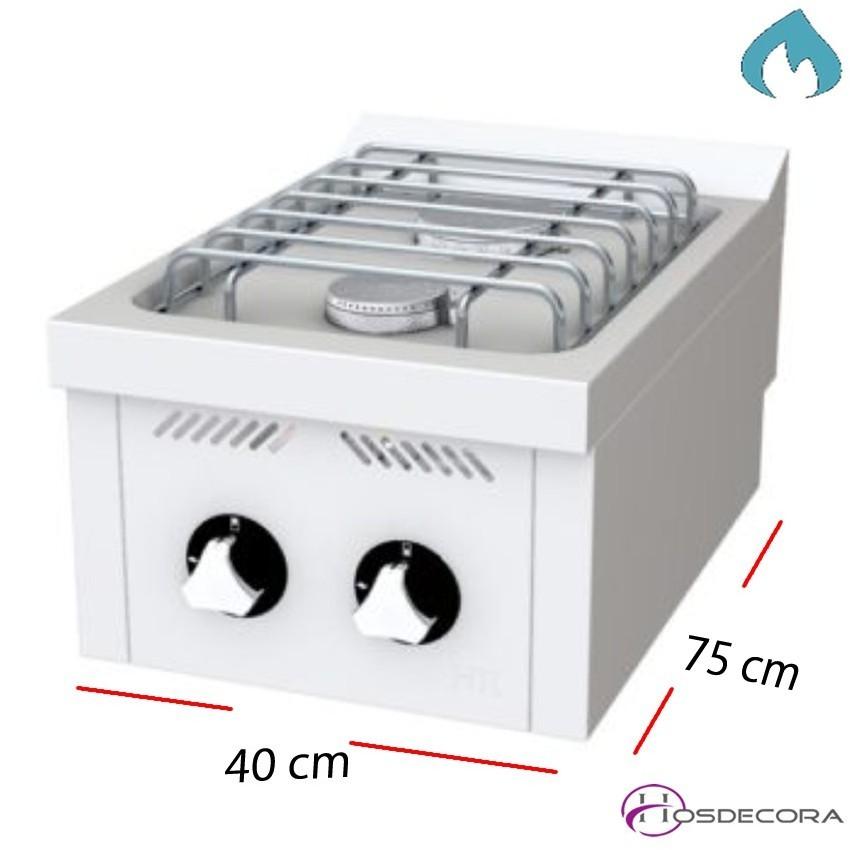 Fogones a Gas Fondo 60- 2 Fuegos 6 y 3.5 KW