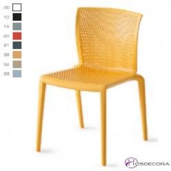 Silla de plastico amarilla Chella