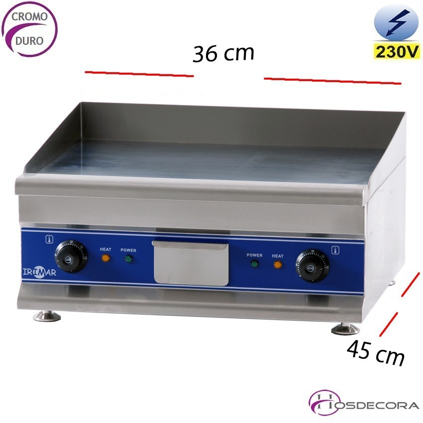 Plancha de cromo eléctrica 2 Kw - 12 mm
