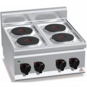 Cocina Electrica sobremesa 4 Fuegos 8 Kw. industrial