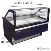 Vitrina de pastelería Recta-Reserva- Fondo 115 cm.