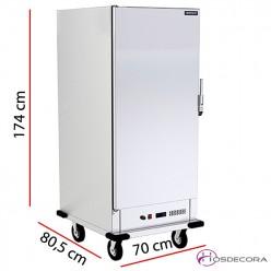 Carro caliente para 20 GN 2/1 - 70 x 174 cm 3000W