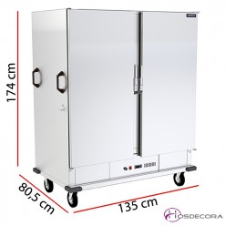 Carro caliente para 40 GN 2/1 - 135 x 174 cm 3000W