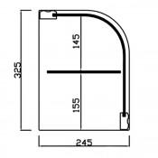 Vitrina Neutra Doble Madera - Nogal 1010x245x325
