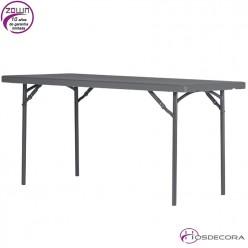 Mesa plegable capacidad 4/per.  150 x 76 cm - XL150