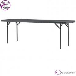 Mesa plegable capacidad 8/per.  243,8 x 76,2 cm - XL240
