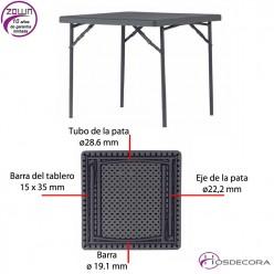 Mesa plegable capacidad 4/per. 91,4 x 91,4 cm - XXL90