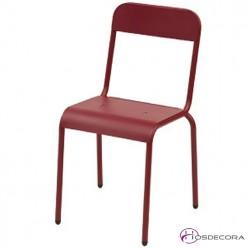Silla de hierrro galvanizado roja Oia