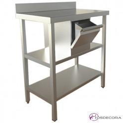Cafetero ECO en acero Inox 150x60 cm.