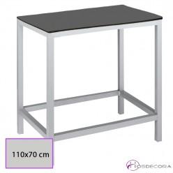 Mesa con reposapies para taburetes