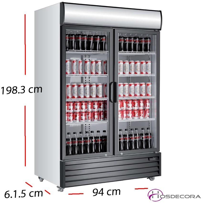 Nevera Doble Cartel luminoso 2 P cristal - 800 L- 750 W