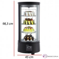 Expositor de tartas refrigerado 72 L 190W.