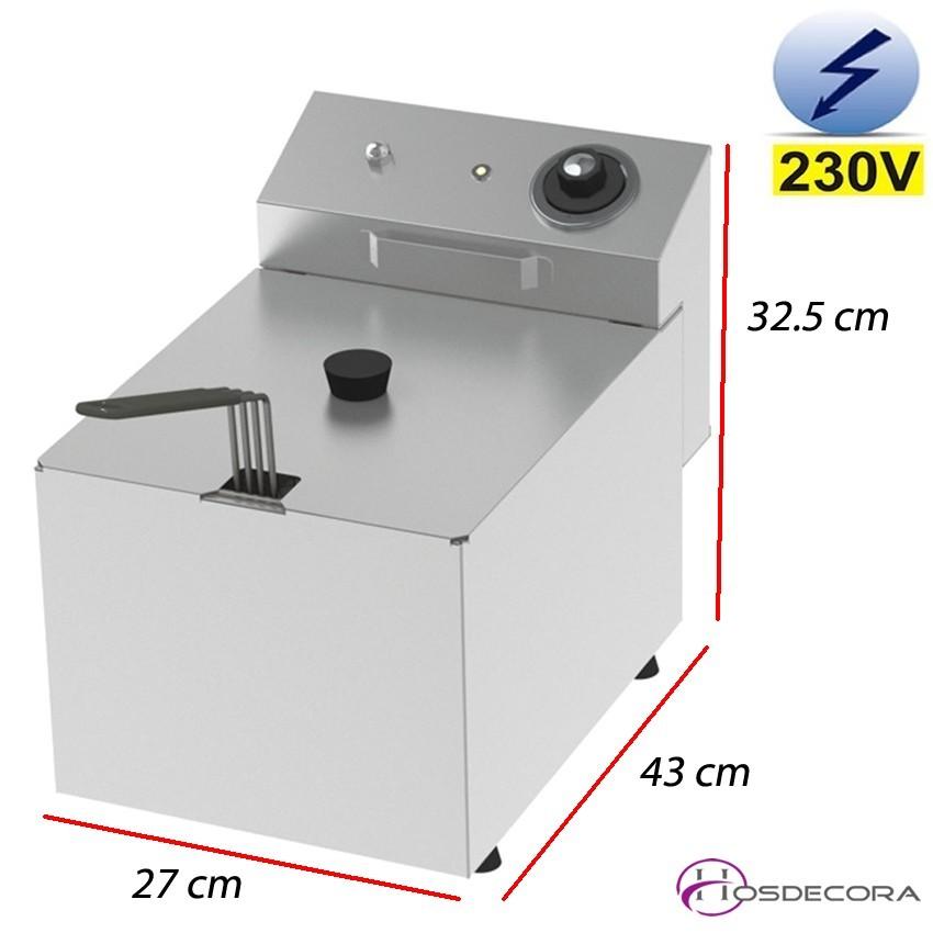 Freidora eléctrica de sobremesa 8 Litros - 5.5 Kw.