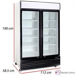 Armario frío con 2 Puertas cristal - 688 L- 525 W