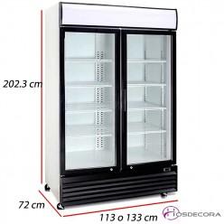 Armario frío con 2 Puertas cristal - 1000 L- 525 W