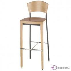Taburete HAZA asiento de madera