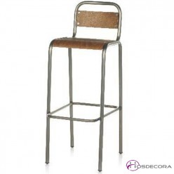 Taburete alto MANCILES asiento de madera