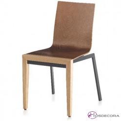 Silla con patas de hierro y patas de madera Reinoso