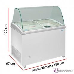 Vitrina de helados TCG hasta 10 Litros
