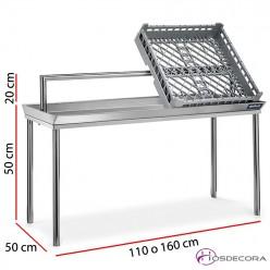 Estantería de sobremesa para cestas de 110 o 160 cm x 50 cm
