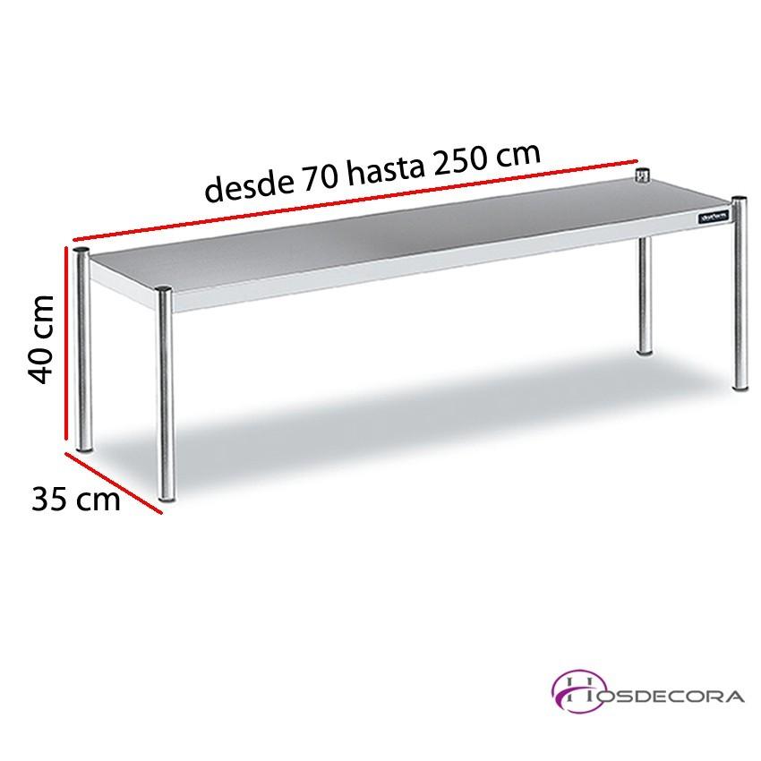 Estante de sobremesa simple desde 70 cm y fondo 35 cm