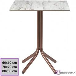 Mesa CALZADA cuadrada con tablero Compact