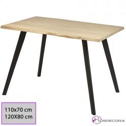 Mesa de madera con canto irregular - BOHONAL