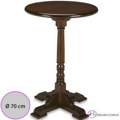 Mesa redonda 70 cm de madera - AMUSCO