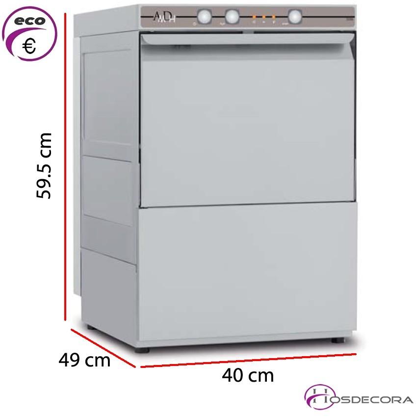 Lavavasos para bar 35x35- Altura útil 29 cm. 63-AMDH 350